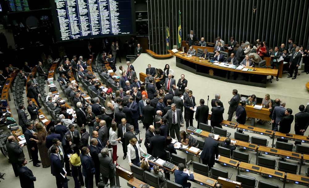 Deputados e senadores discutem a Reforma Administrativa em sessão no Congresso, em 2020