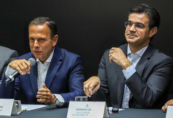 João Doria e Rodrigo Garcia agora estão no mesmo partido