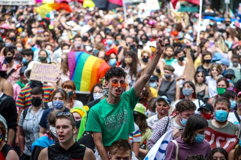 Manifestação para direitos LGBTQI em Sidney, Austrália