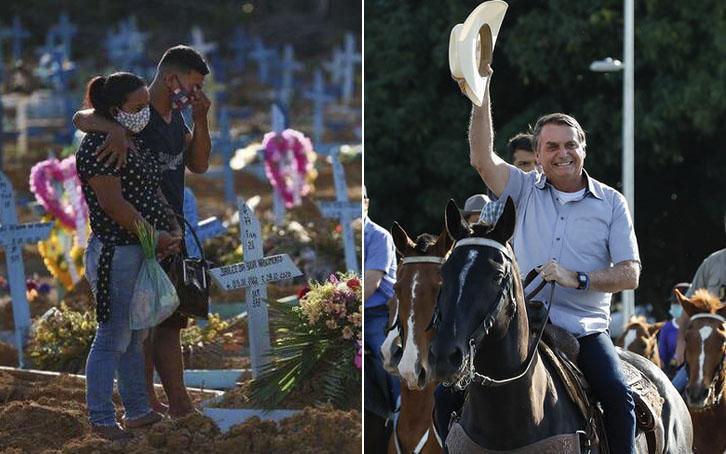 Presidente Bolsonaro segue mostrando desprezo pela vida
