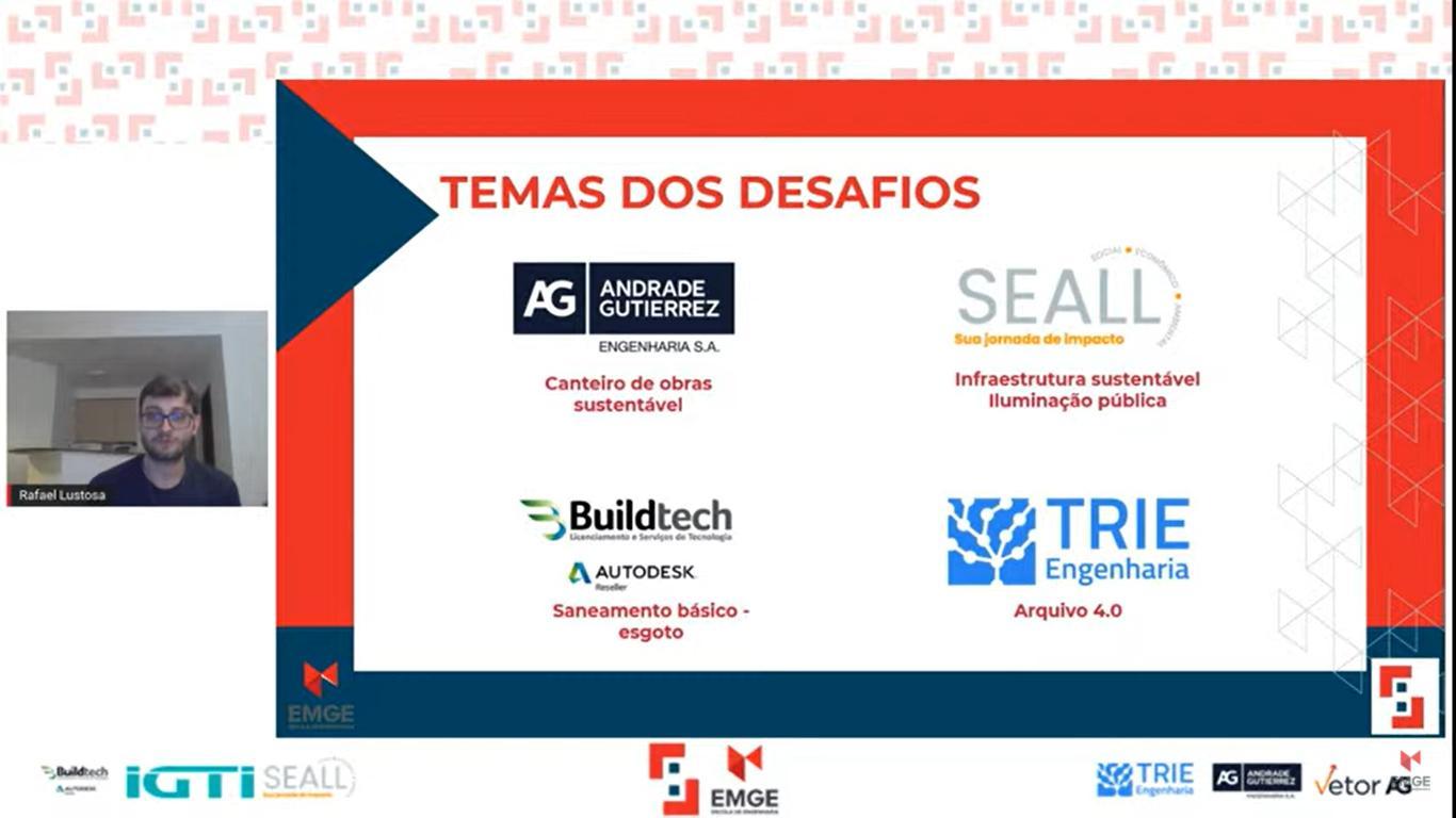 Empresas que participaram do Simbora apresentando seus principais desafios.