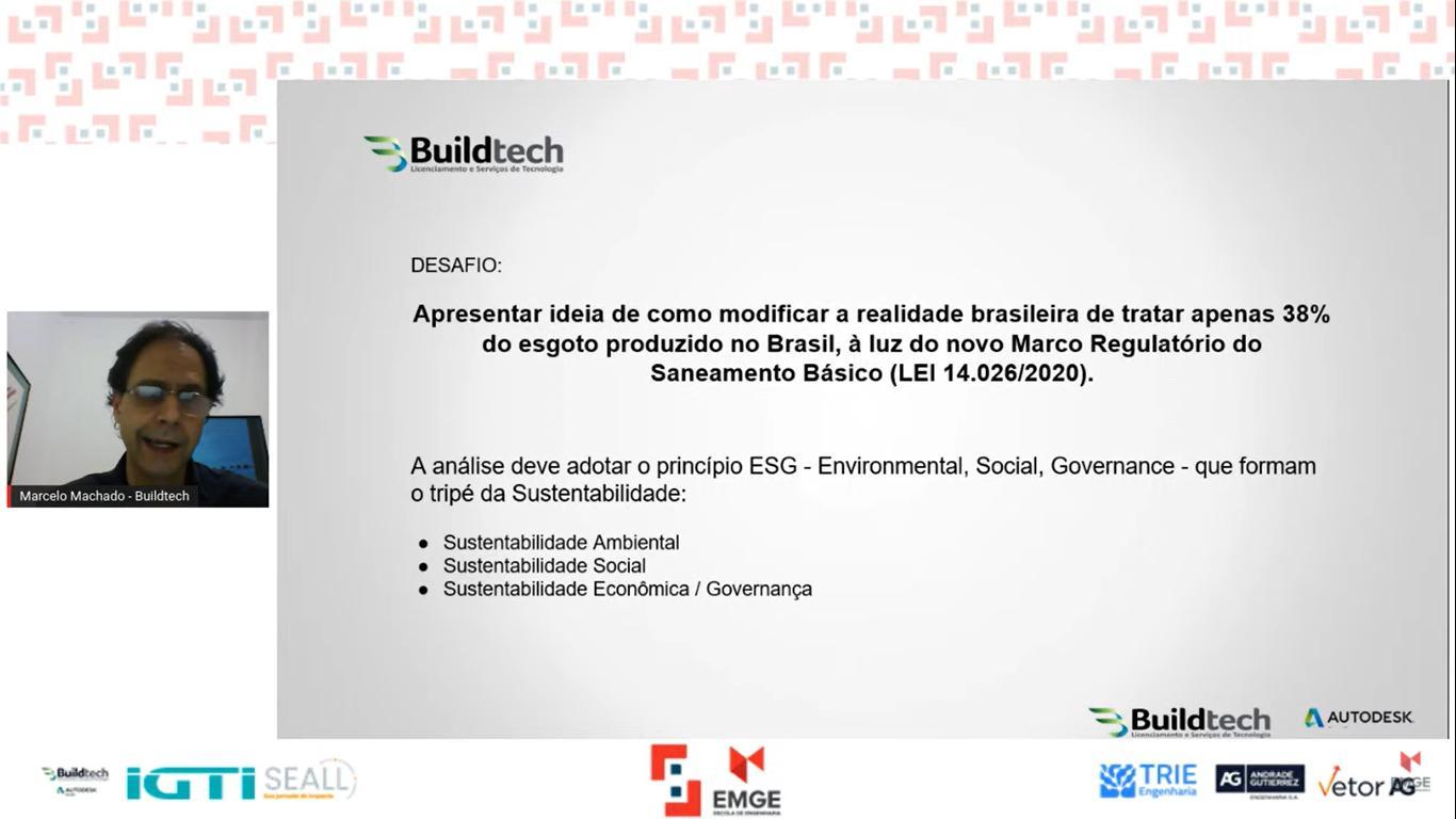 Marcelo Machado, Gerente de Criatividade da Buildtech Autodesk, apresentou o desafio da empresa.