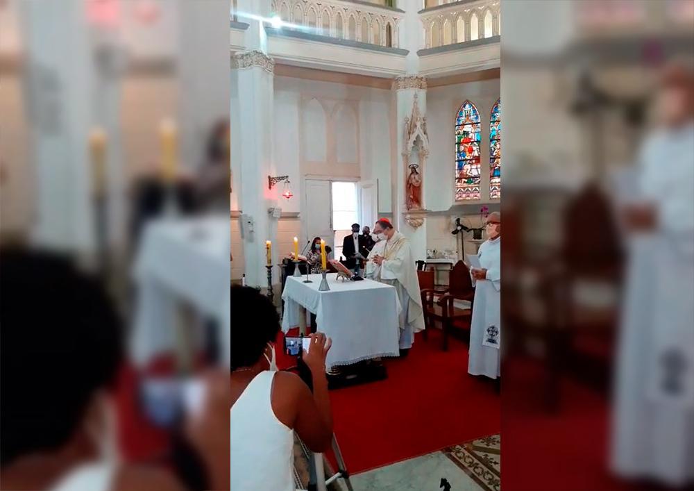 Missa presidida pelo cardeal dom Sérgio da Rocha