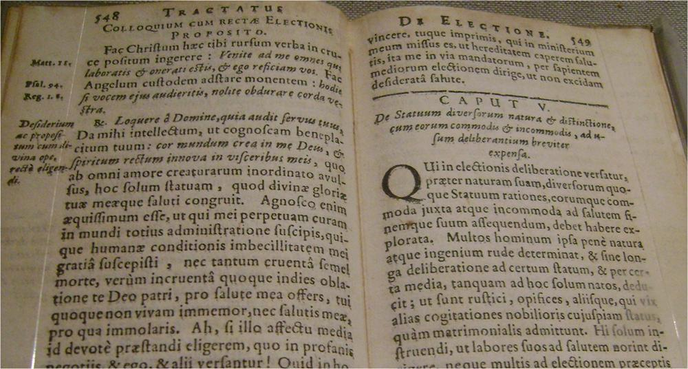 O livro dos Exercícios Espirituais de Inácio de Loyola em latim