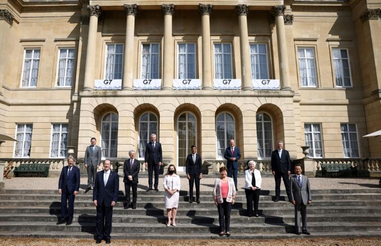 Foto de família dos ministros das Finanças do G7, em 5 de junho de 2021 em Londres