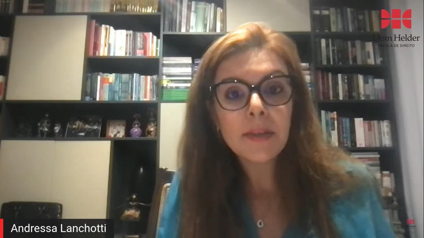 Andressa Lanchotti, Promotora de Justiça do Ministério Público de Minas Gerais (MPMG), uma das convidadas da live.