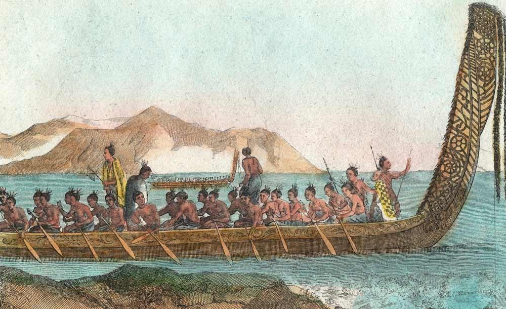Estudo utilizou estampas, vasos e inscrições maoris para compilar relatos de expedições