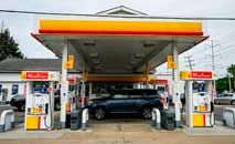 Posto de gasolina em Arlington, Virgínia, nos EUA (Andrew Caballero-Reynolds/AFP)