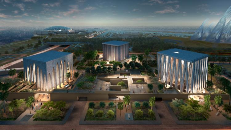 Projeto como Casa da Família Abraâmica em Abu Dhabi