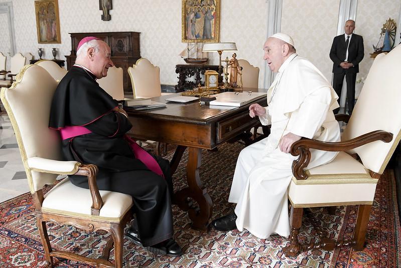 Dom Paglia é recebido em audiência pelo papa Francesco em 31 de outubro 2020