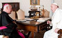 Dom Paglia é recebido em audiência pelo papa Francesco em 31 de outubro 2020 (Pontifical Academy for Life/Flickr)