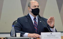 O governador cassado do Rio Wilson Witzel durante a CPI da Covid (Alessandro Dantas)