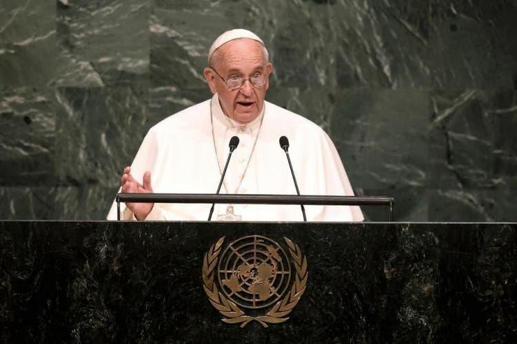Papa Francisco na ONU, em 2015