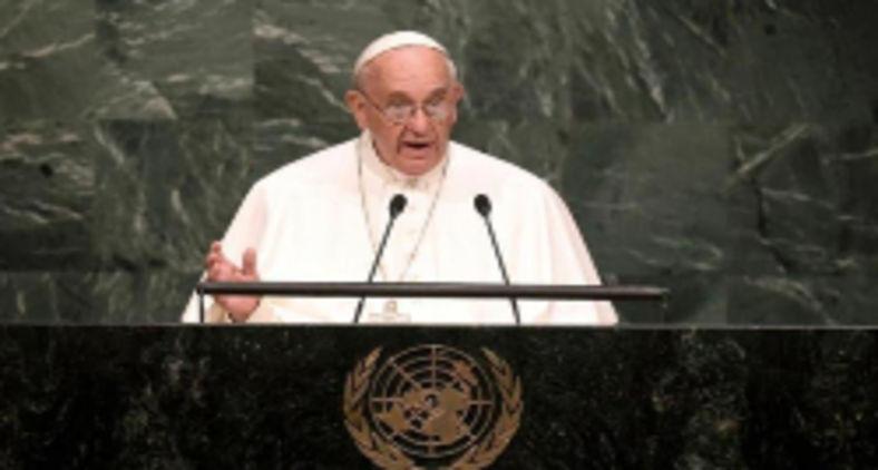Papa Francisco na ONU, em 2015 (A. Clary/AFP)