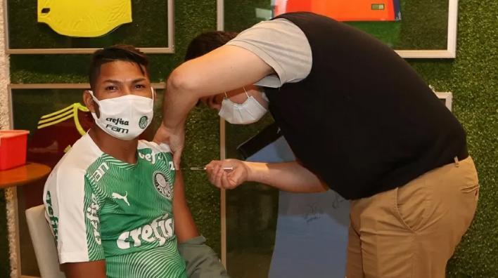 Jogadores do Palmeiras já foram imunizados