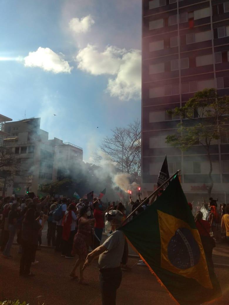 Ruas de BH foram tomadas pelos manifestantes