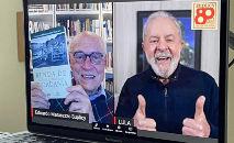 Eduardo Suplicy e Lula durante live (Reprodução Instagram)