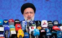 Presidente eleito do Irã, Ebrahim Raisi, durante coletiva de imprensa, em Teerã (Atta Kenare/AFP)