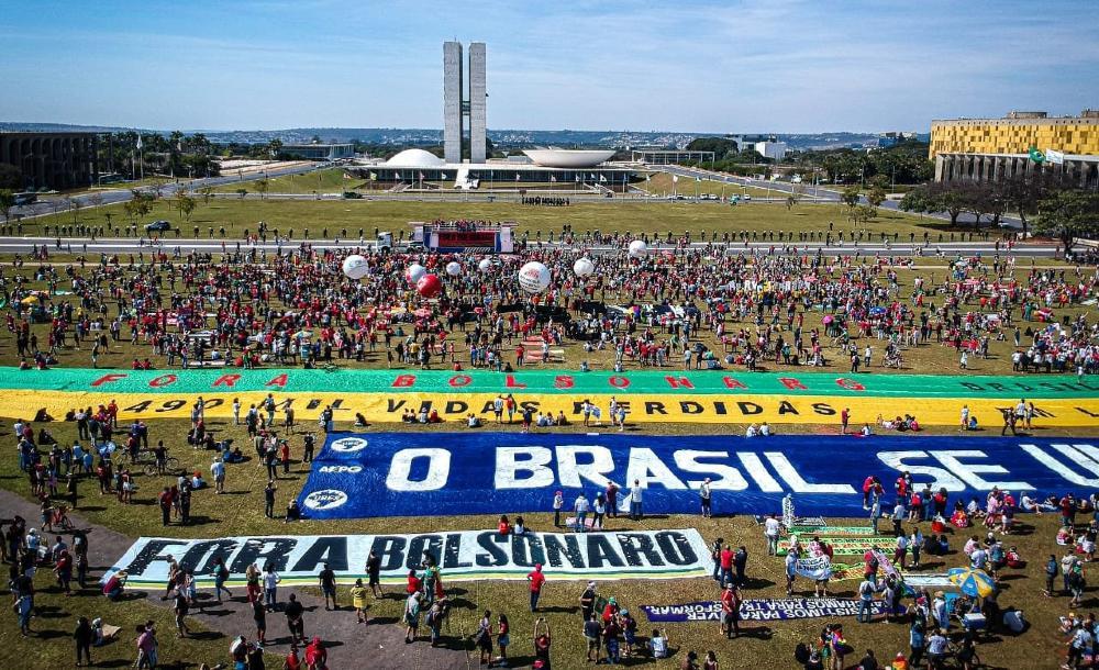 Manifestação contra o governo Bolsonaro realizada em Brasília, no dia 19 de junho de 2021