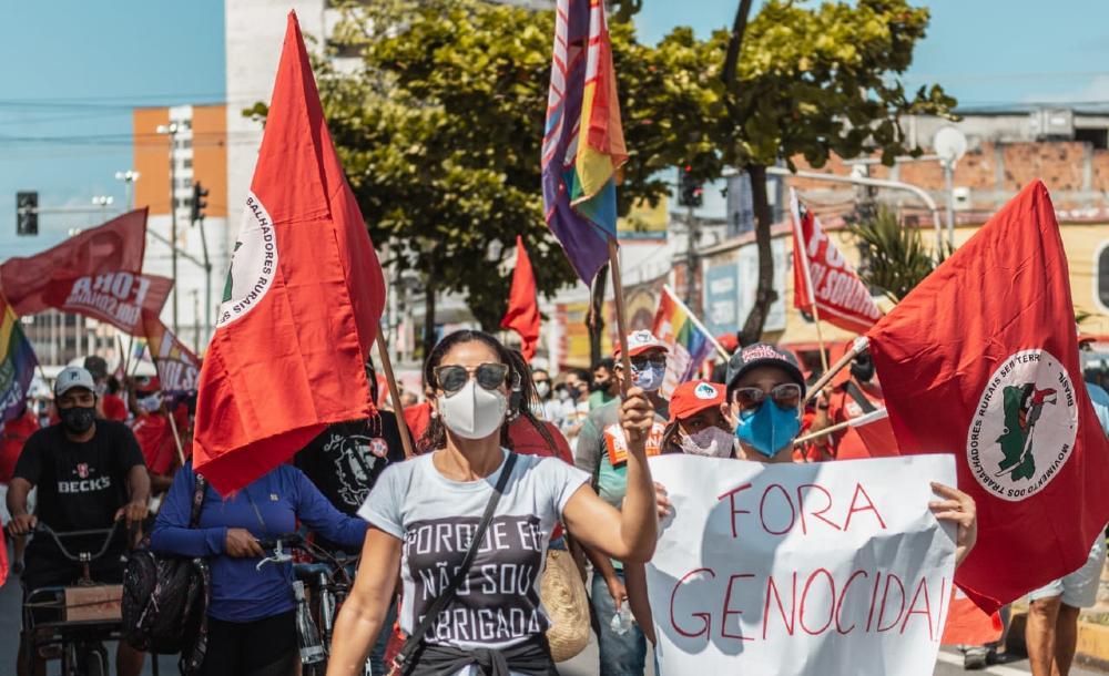 Manifestação contra o governo Bolsonaro realizada em Sergipe, no dia 19 de junho de 2021