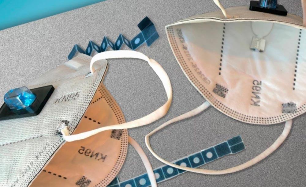 A máscara tem baixo custo e requer de 15 a30 minutos de uso para detectar infecção