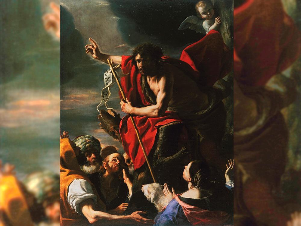 Quadro 'Pregação de São João Batista', de Mattia Preti, retratando o último profeta anterior a Jesus