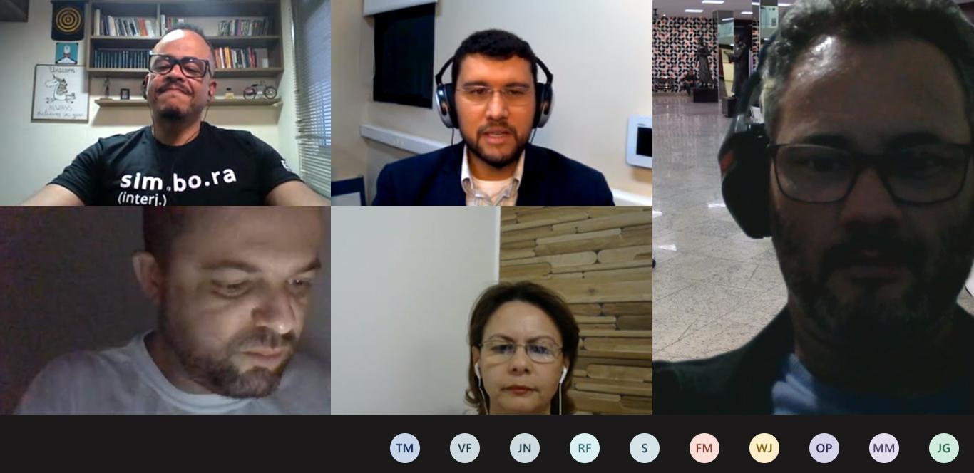 Também participaram das conversas os docentes Anacélia Santos, Pró-Reitora de Ensino, e Rogério Vieira, coordenador do Núcleo de Inovação e Conhecimento (NIC).