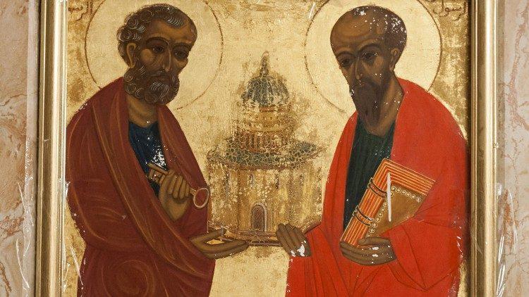 Ícone dos apóstolos Pedro e Paulo