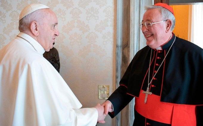 Em foto de arquivo, o presidente da Comece em audiência com o papa Francisco