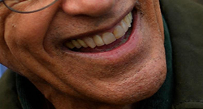 O sorriso de Caetano Veloso (Mauro Pimentel/AFP)