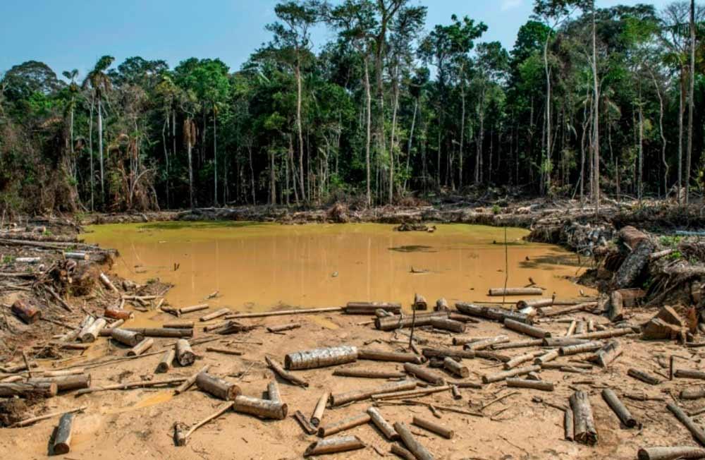Mina ilegal perto de Puerto Maldonado, no Peru: ações concretas