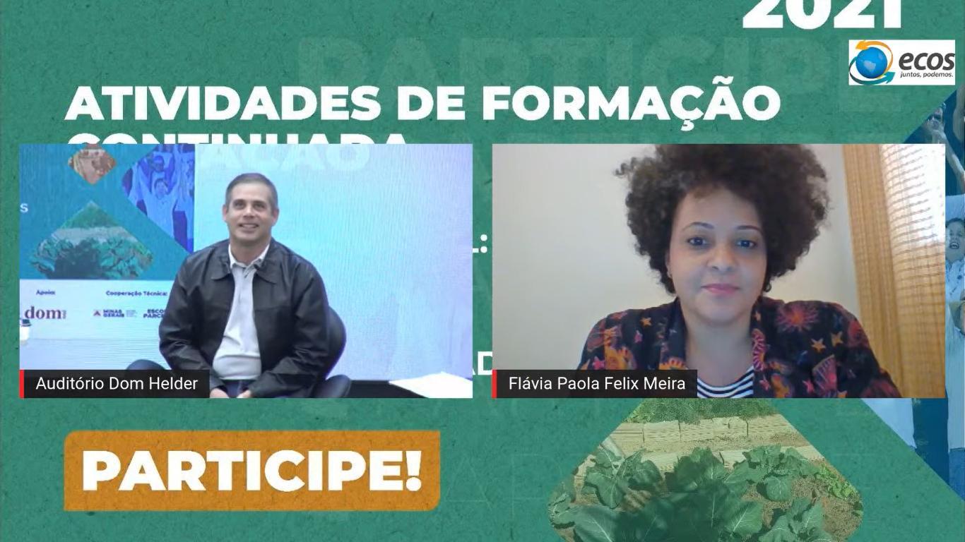 Willio Campos, mediador e professor nucleador e Flávia Paola Félix Meira, representante da Secretaria de Estado de Educação de Minas Gerais (SEE/MG).
