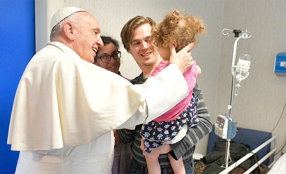 Papa visitou setor de oncologia infantil no dia 13 de julho