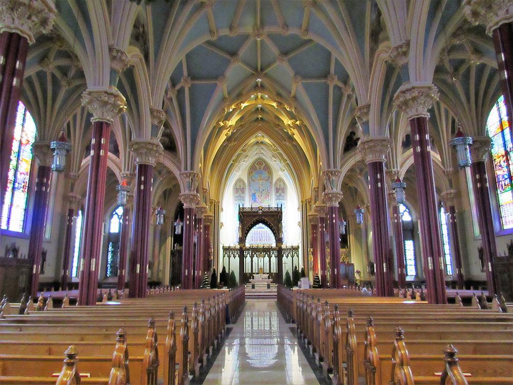 A catedral de São Patrício na diocese de Norwich, EUA