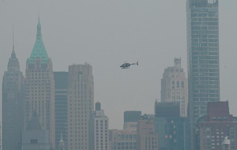 Sul de Manhattan visto a partir de Nova Jersey, em 20 de julho de 2021