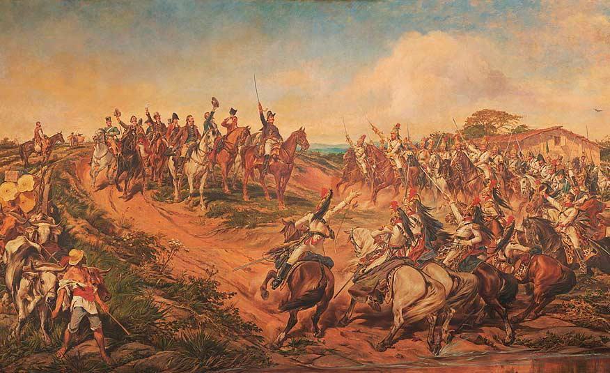 'Independência ou morte', quadro de Pedro Américo, é um dos contemplados na restauração