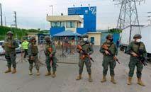 Presídio em Guayas, no Equador, palco de violência que se repete (Marcos Pin Mendez/AFP)