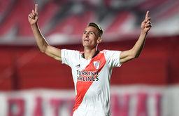 Braian Romero foi o destaque na classificação do River (Reprodução site River Plate)