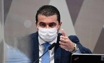 Em seu depoimento na CPI da Covid, o deputado Luis Miranda afirmou que problemas com a compra da vacina Covaxin foram avisados a Jair Bolsonaro (Jefferson Rudy/Agência Senado)