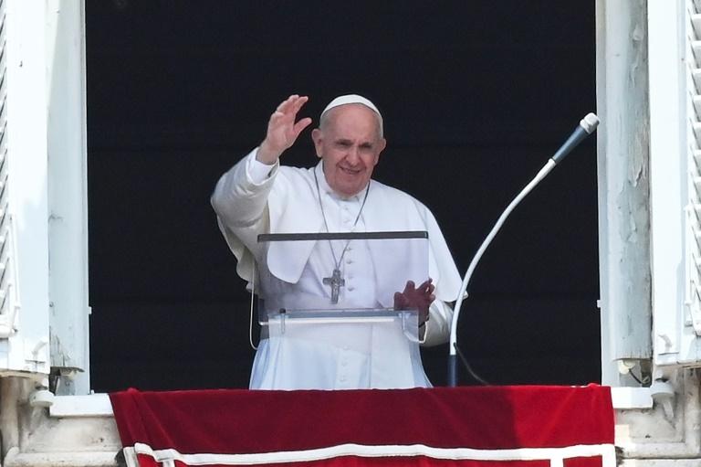 Papa Francisco na tradicional oração dominical do Ângelus, no Vaticano, em 14 jul. 2021