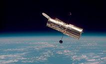 O telescópio espacial Hubble fica a 547 quilômetros da Terra (Nasa)