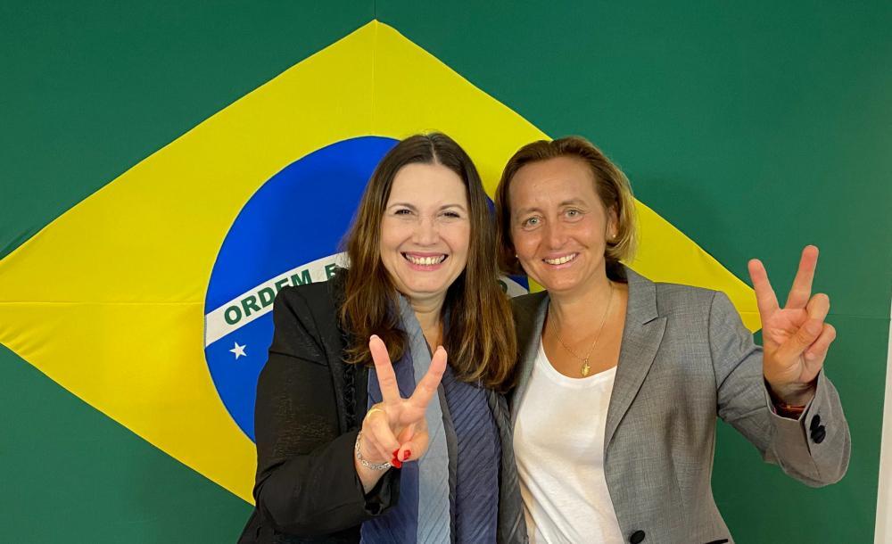 'Hj recebi a deputada Beatrix von Storch,do Partido Alternativa para Alemanha,o maior partido conservador daquele país', dizia o tuíte da deputada brasileira Bia Kicis