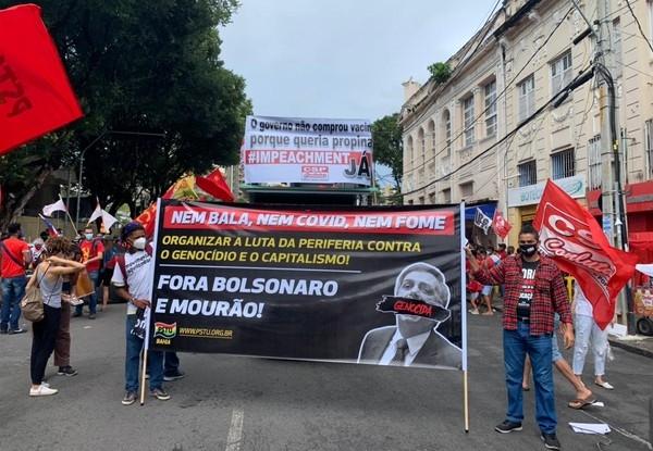 Protesto em Salvador contra o presidente Jair Bolsonaro