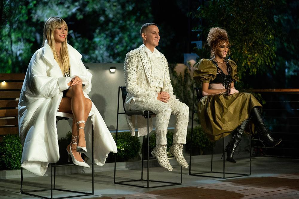 Jurados de 'Making the cut': Heidi Klum (que também apresenta),  Jeremy Scott e Winnie Harlow