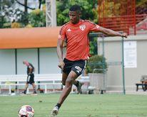Jogador atuou apenas cinco vezes com a camisa do São Paulo (Divulgação São Paulo)
