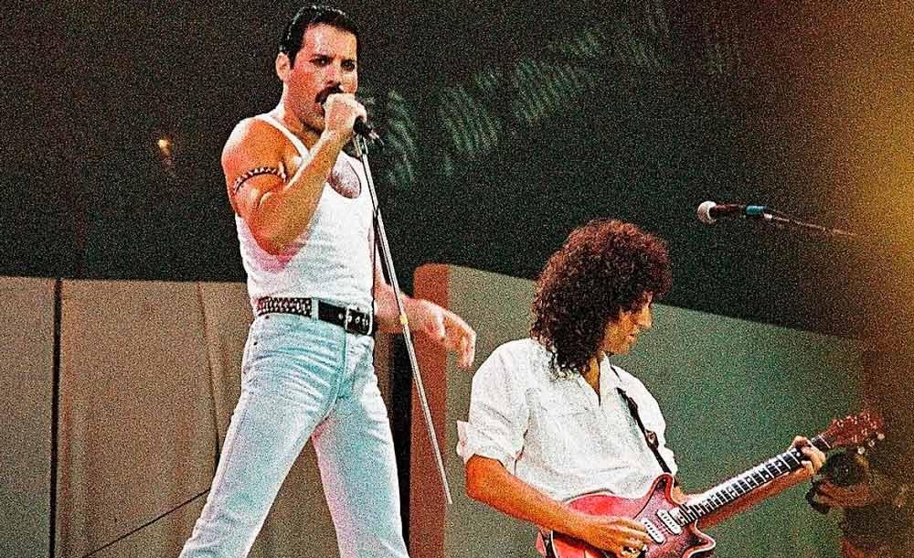 Show da banda Queen, no LiveAid, em 1985