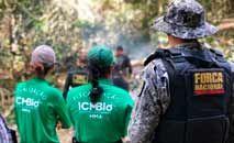 Ação de fiscalização da equipe do ICMBio em unidade de conservação em Itaituba (Hevelise Dias/ICMBio)