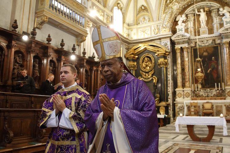 Dom Edward K. Braxton, de Belleville (EUA), após celebração em Roma durante visita ad limina do episcopado estadunidense