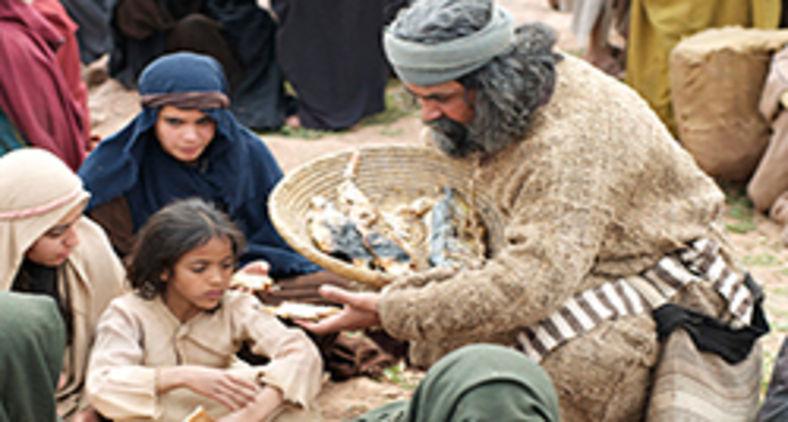 De peixes e pães salutares não consta ninguém privado (Free Bible Images/Lumo Project)
