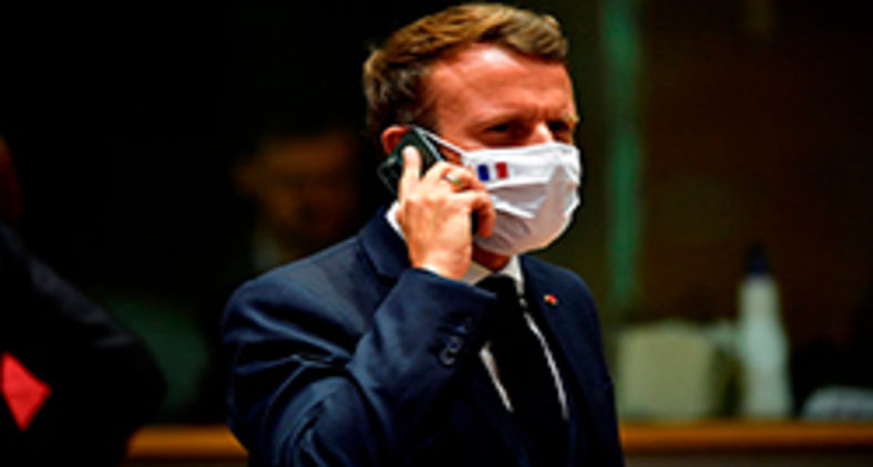 Emmanuel Macron é um dos espionados (John Thys/Pool/AFP)